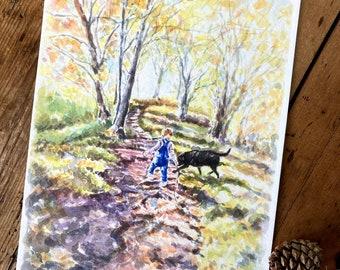 Autumn Walk - A4 Print (210mm x 297mm) - Paper Size