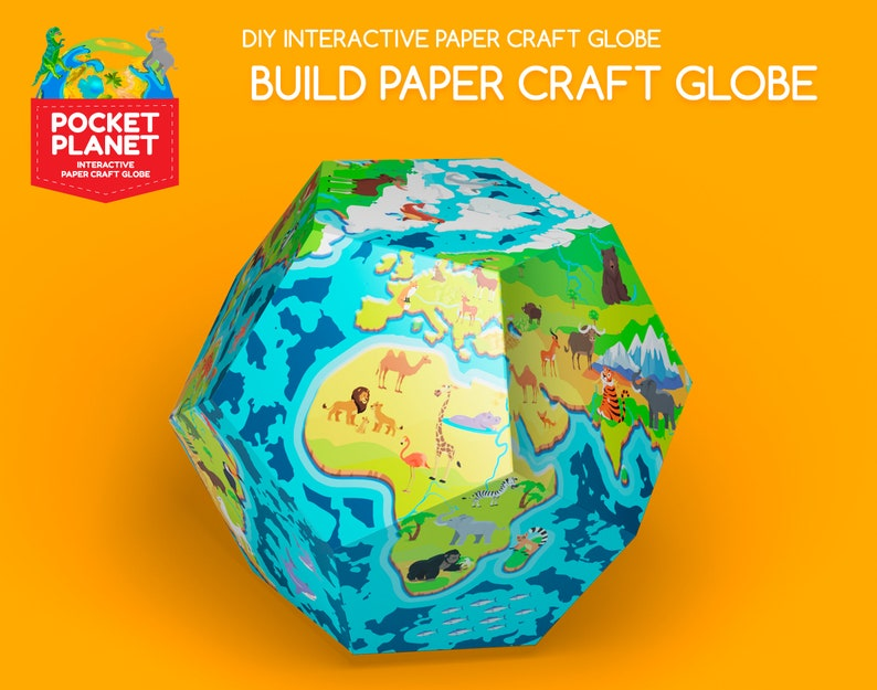 Papercraft Globe  Educational Toy with Interactive Augmented image 0