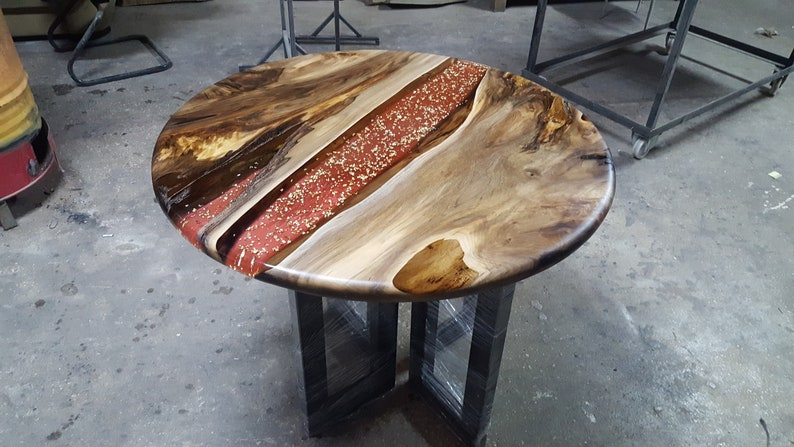 Pink Epoxy Resin Table Tops