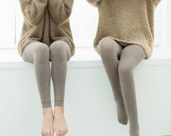 Miss June's | Super soft cotton tights/legging | Casual | Home | Dress | Fashion | Style | Comfortable | Gift | Quality |Natural|