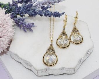 18k gold plated over sterling silver ornate water drop shape pendant Gold Vermeil Filigree Teardrop Earring Finding
