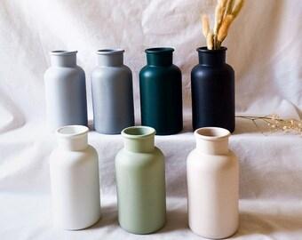 Enkel Textured Vase   3 Sizes Available   Scandinavian Boho Style   Bottle Neck   Rustic Home Decor   Apothecary Vase