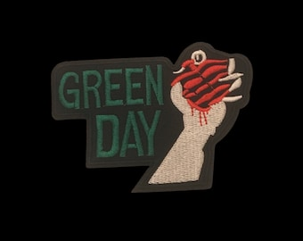 b Set of Three Green Day Patches Sew On /& Iron On Badges