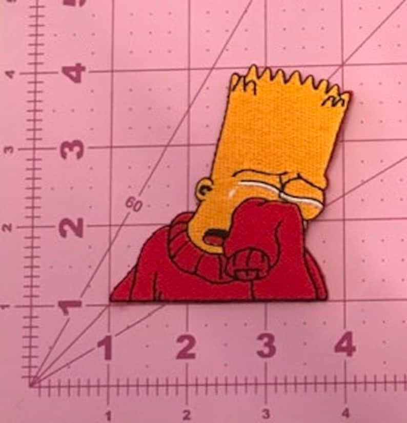 Simpson Iron on Patch Bart Simpson Iron on Patch Jacket Sew on Patch Kids Sew on Patch Jean Embroidery Patch Cartoon Patch Custom Patch