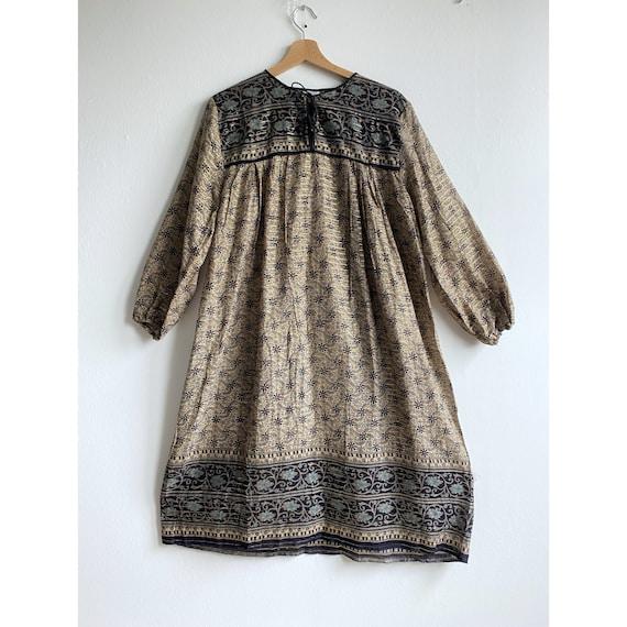 Vintage Indian cotton 1970s dress - vintage Pakis… - image 1