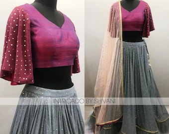 Beautiful Georgette Lehenga Choli-heavy Chain Stitched Embroidery And Stone Work-heavy Georgette Dupatta-for Women