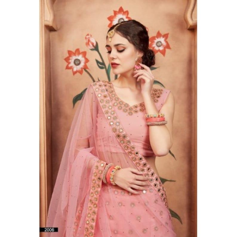 Designer Wedding Lehenga With Net Dupatta Peach Georgette Lehenga Choli For Women Party Wear Embroidery Work Dress