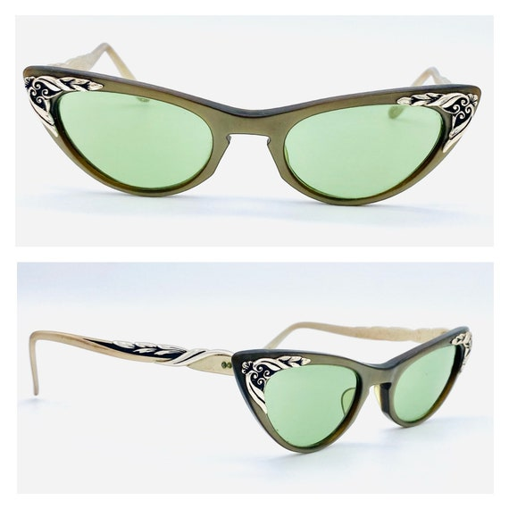 Vintage 1950s Cat Eye Sunglasses, 1950s old Hollyw
