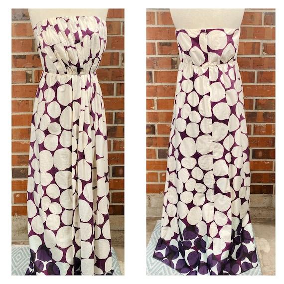 Vintage 70s size 12 Cotton Maxi Dress, Boho  1970s