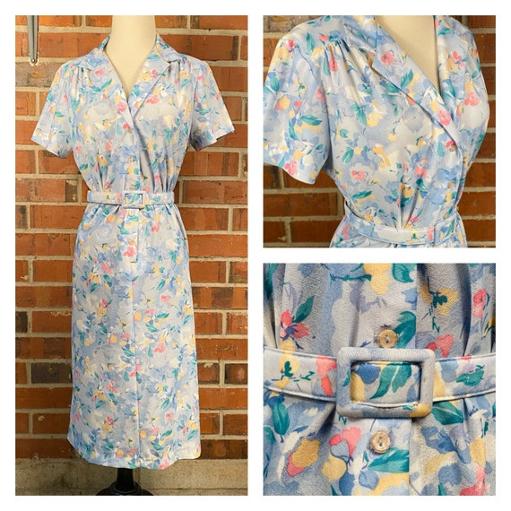 Vintage 60s does 1940s Plus Size House Dress | 194