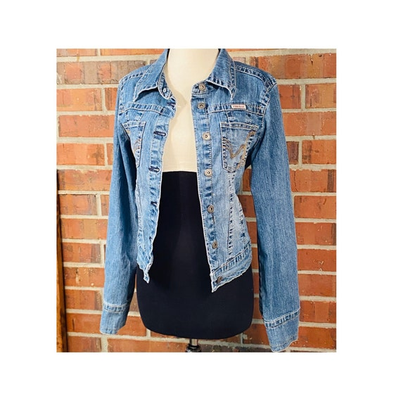 Vintage 1990s Tailored Jean Jacket | Size L Hydrau