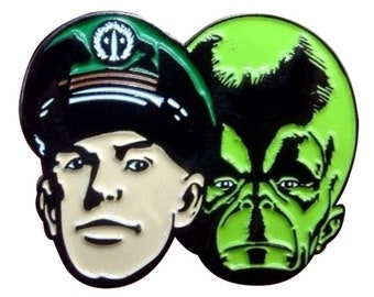 DAN DARE and The MEKON Eagle Comics Metal & Enamel Pin Badge