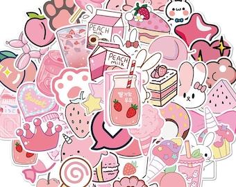 Pink kawaii sticker pack