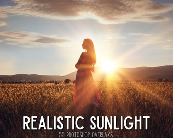 Photoshop Sun Overlays, Photoshop Overlay Sunset Overlay for Photoshop, Sun Flare Overlay, Rainbow PS Overlay Sunlight Overlay for Photoshop