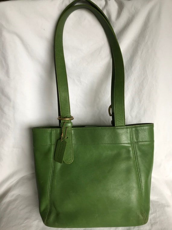 Coach Vintage Buckle Bag - Apple Green Leather!