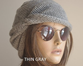 womens hats  cotton winter  Chemo Hats  Cancer hats womens  cotton beanie Turbans  Head Covers Chemo hats for women child for Girls gray