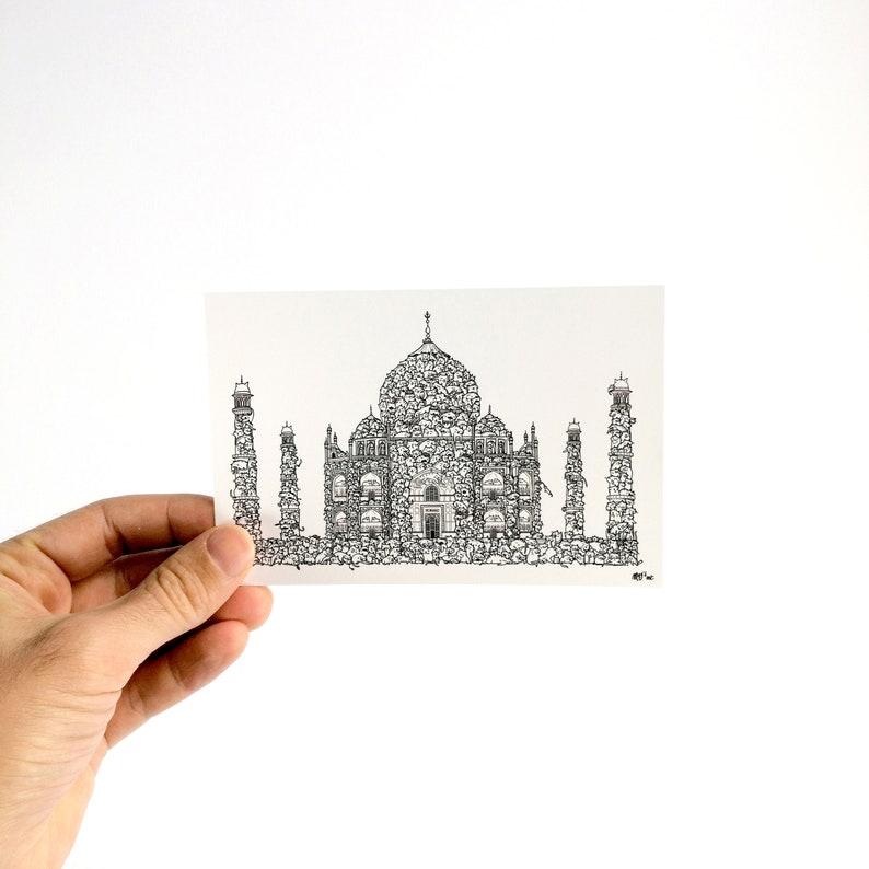 Taj Miaouhal  Carte Postale 10x15cm image 0