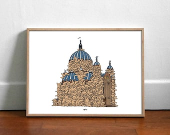 Sainte Crocotilde - Affiche 40x30cm
