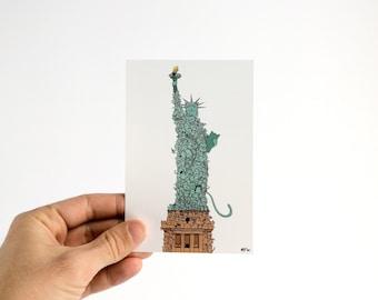 Chatue de la Liberté - Carte Postale 10x15cm