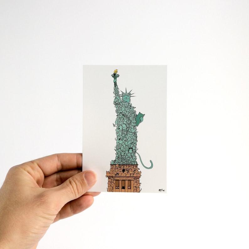 Chatue de la Liberté  Carte Postale 10x15cm image 0