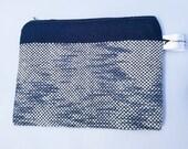 Nortical Ripple Handmade Plain Weave Pouch. Handmade Makeup Bag
