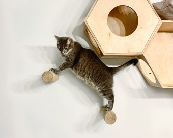Cat stairs Cat steps Cat wall stairs Cat climbing steps Cat shelves Cat furniture Cat walker Cat tree Wall-mounted cat stairs Cat scratcher