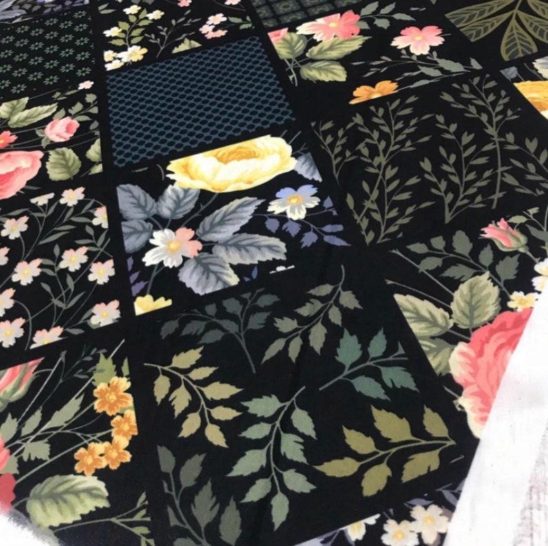 Printed brand fabric Black Crepe fabric