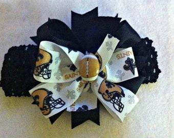 New Orleans Saints Photo Prop New Orleans Saints Girls Headband New Orleans Saints Baby Heaband New Orleans Saints Headband