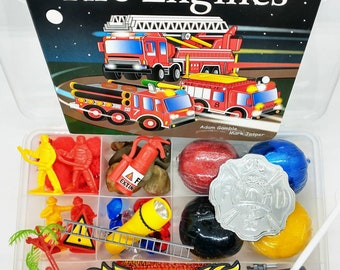 Firefighter Playdough Kit, Firefighter Sensory Kit, Fire Truck Play Dough Kit, Fireman Play Dough Kit, Boys Playdough Sensory Kit