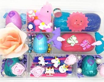 Hatchimal Unicorn Playdough Kit, Unicorn Sensory Kit, Unicorn Play Dough Kit, Hatchimal Playdough Kit, Girls Playdough Sensory Kit