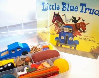 Little Blue Truck Playdough Sensory Kit, Little Blue Truck Sensory Kit, Fall Sensory Kit, Little Blue Truck Play Dough, Truck Playdough Kit