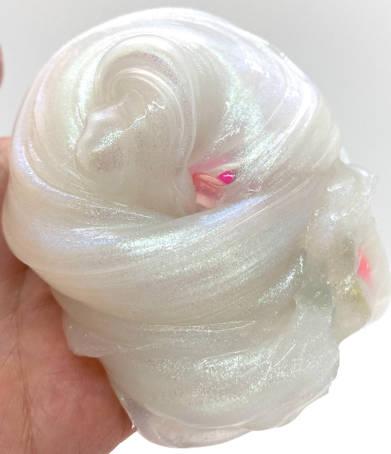 Coconut Milk Bath Slime Iridescent Pearl Slime Thick Clear image 0