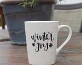 3 quot Winter Christmas Holiday decal for Mug personalized - Yeti, mug, Coffee cup, Tumbler, wine glass, to go cup You choose design color