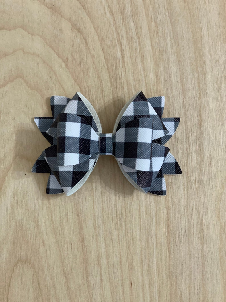 Faux Leather Hair Bow