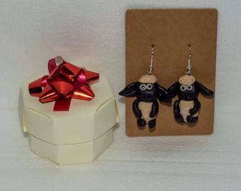 Handmade cute Shaun the sheep inspired earrings