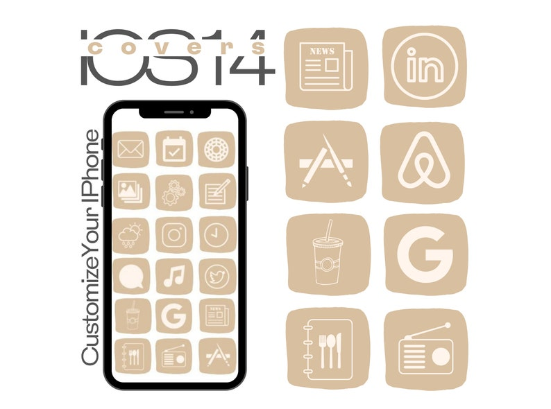 Iphone Update Icon Package Aesthetic Iphone Customization IOS 14 App Icon Covers IPhone