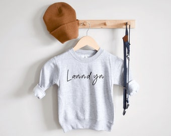 Girl Sweatshirt Grey Pullover Sw Personalized ToddlerYouth Sweatshirt Boy Sweatshirt Girls Birthday gift Customized Gift for Toddler