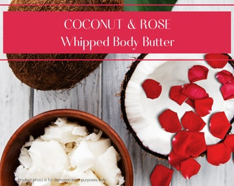 Coconut & Rose Whipped Body Butter