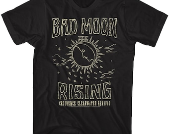 Creedence Clearwater Revival Bad Moon Rising Black Adult T-Shirt