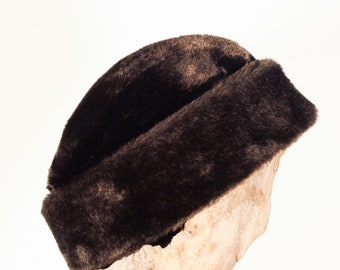 Vintage Faux Fur small Pinch Hat crafted by United Hatters Cap & Millery WRKS