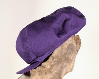 Vintage Y2K purple Hat Depot Newsboy cap