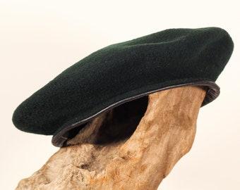 Vintage 60s 100% Wool Kangol Monty Dark Green Beret