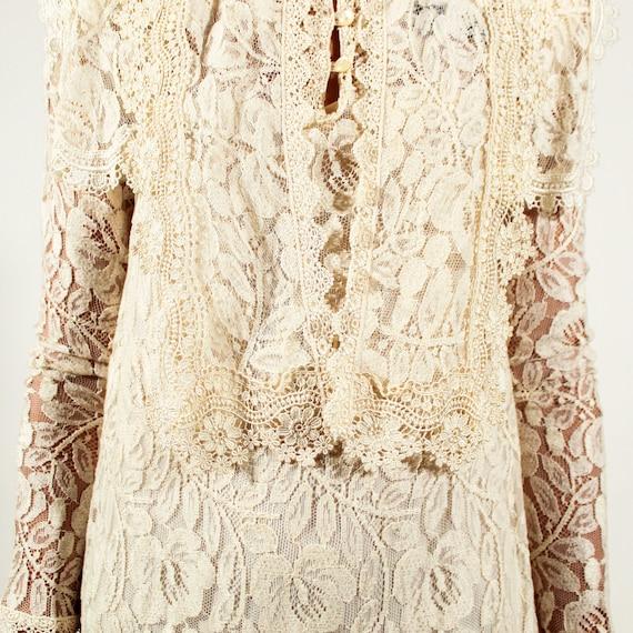 Vintage 80s Jessica McClintock Size 6 lace gown - image 9