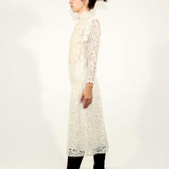 Vintage 80s Jessica McClintock Size 6 lace gown - image 5
