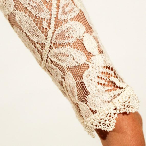 Vintage 80s Jessica McClintock Size 6 lace gown - image 10