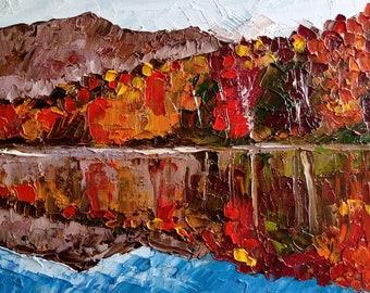 Ray of Sunshine Original Art  Impasto Painting  Model  Art  Landscape Wall Art  Acrylic Painting 11x14