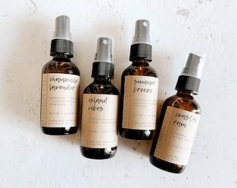 All Natural Room + Linen Spray   2 Oz Fine Mist   Home Fragrance   Air Freshener