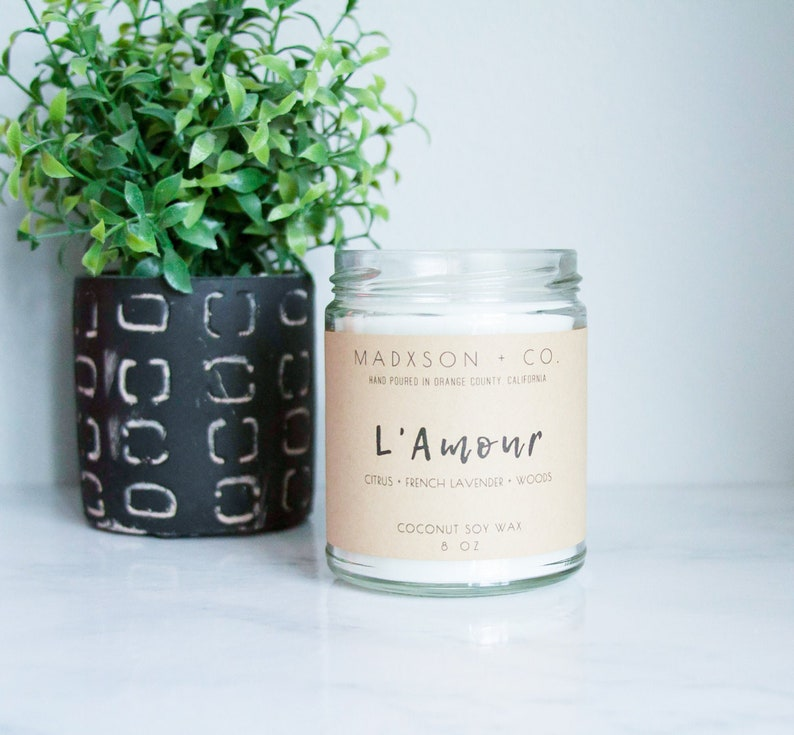 L'Amour  French Cade Lavender Candle  Coconut Soy Wax  image 0