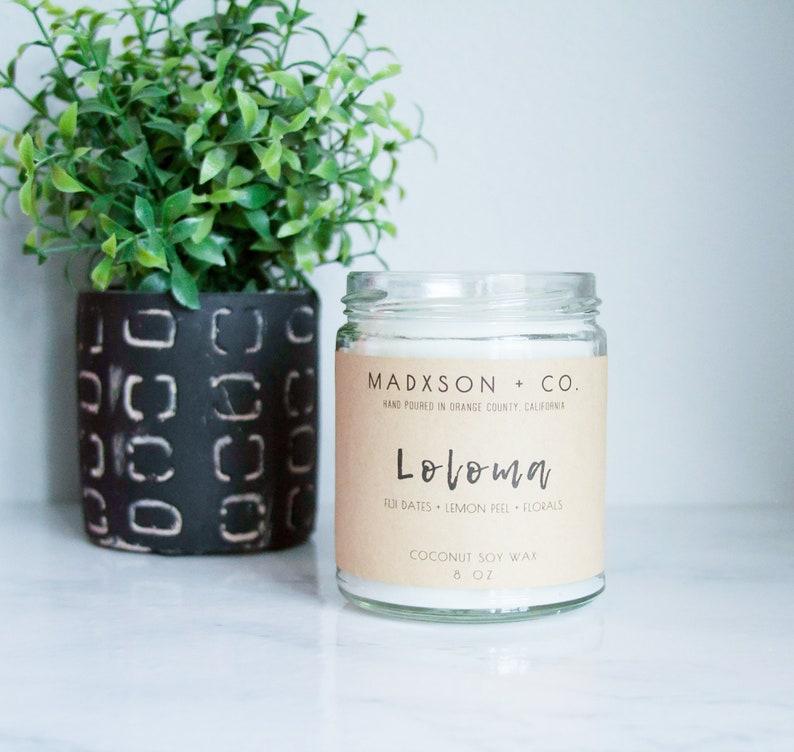 Loloma  Fiji Dates  Lemon Scented Candle  Coconut Soy Wax  image 0
