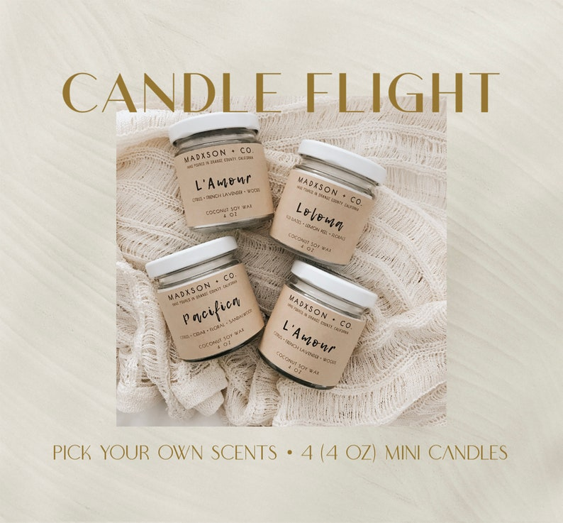 Candle Flight  4 Oz Mini Candles  Set of 4  Pick Your Own image 0